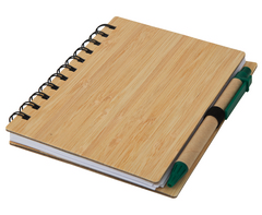 Wood Mid-Size Notebook & Pen-ST325I