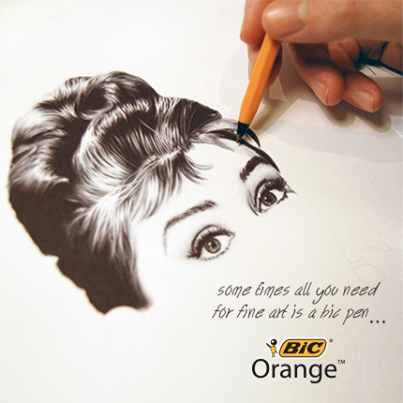 bic pens art